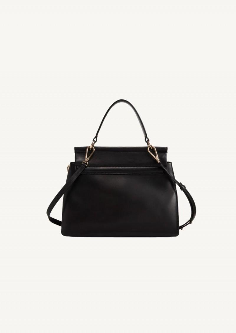 Black Faye Soft handbag in supple lambskin