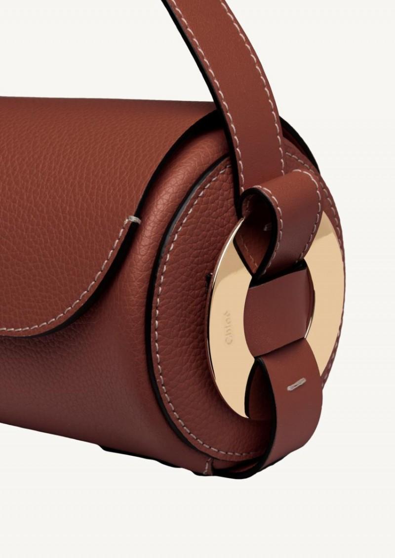 Mini sac porté épaule Darryl sepia brown