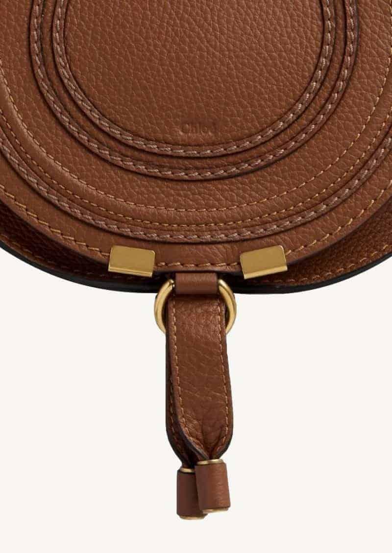 Tan mini Marcie shoulder bag