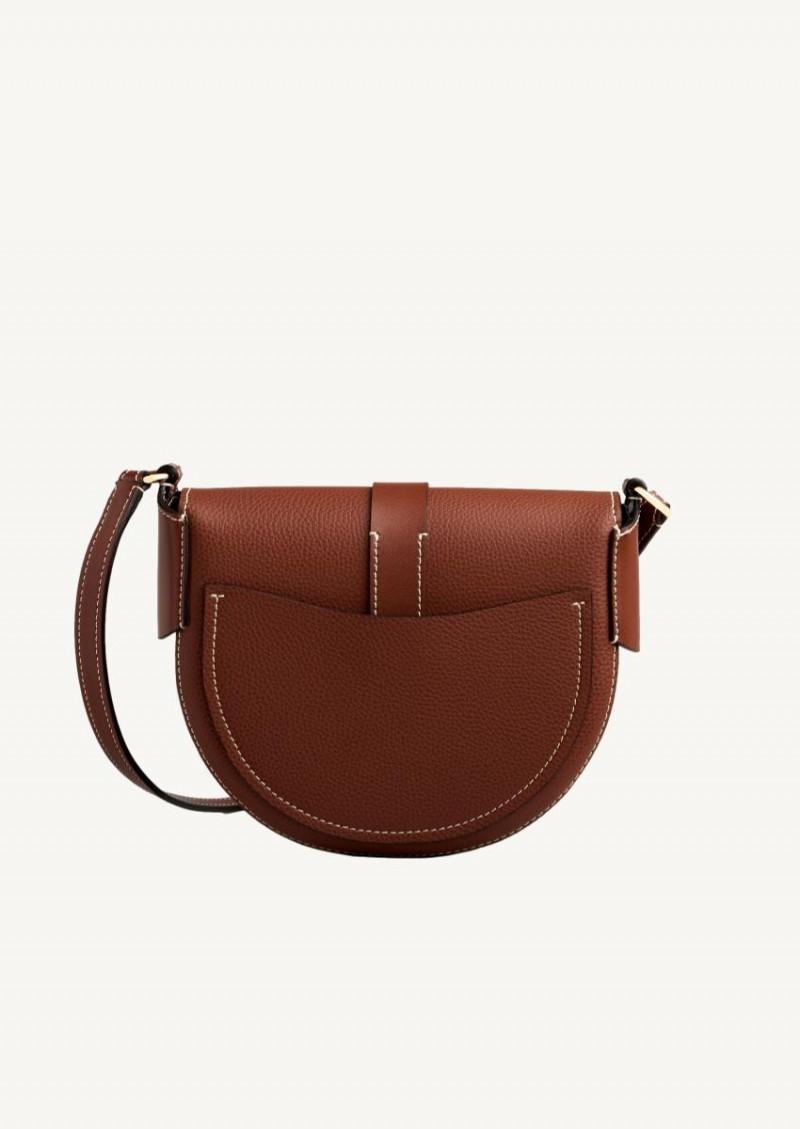 Tan small Darryl shoulder bag in leather