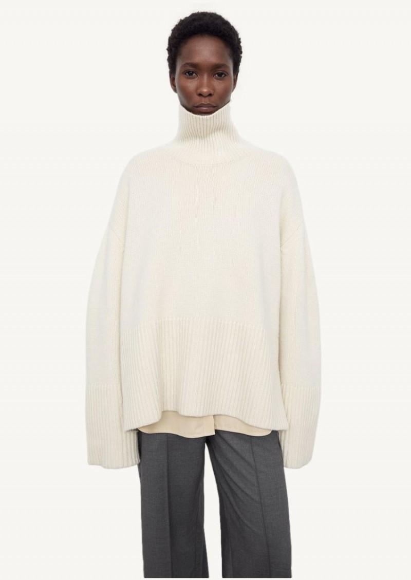 City white Heavy turtleneck in cashmere