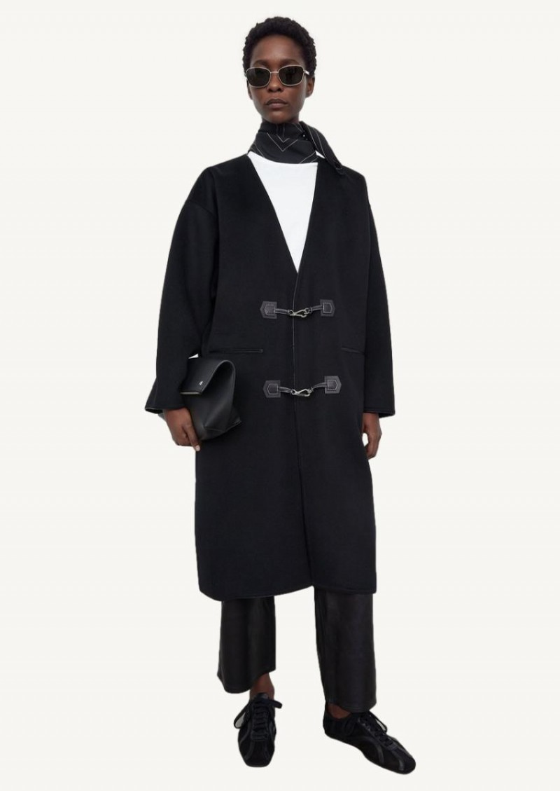 Black clasp coat