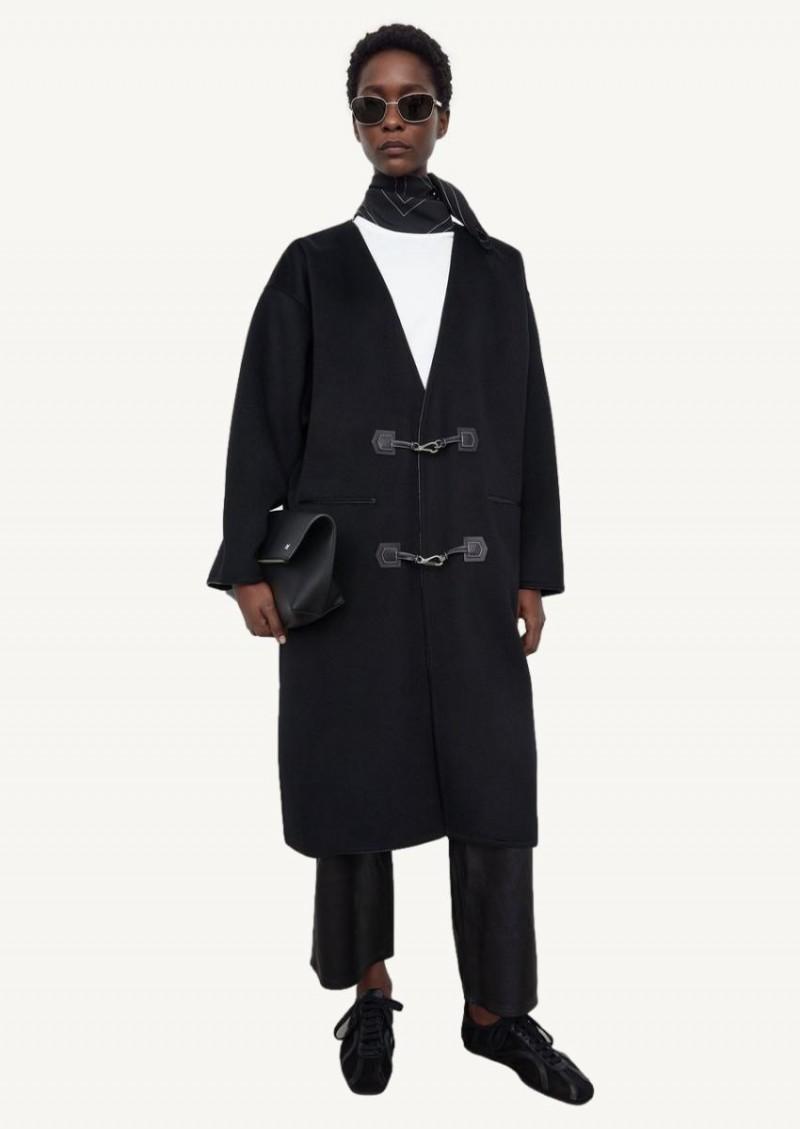 Manteau à fermoir noir