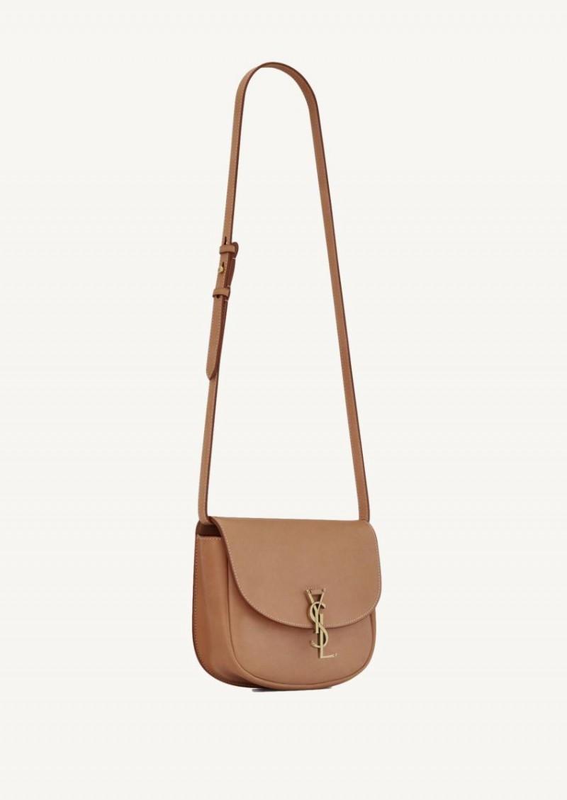 Kaia medium satchel en cuir lisse vintage brown