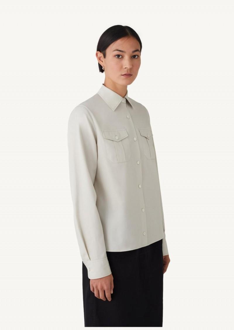 Chemise à deux poches light sauge