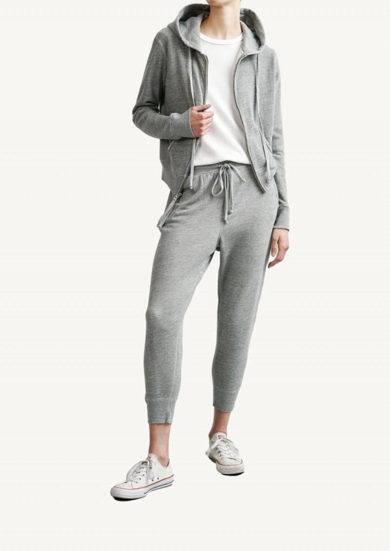 Sweat à capuche zippé Callie gris chiné