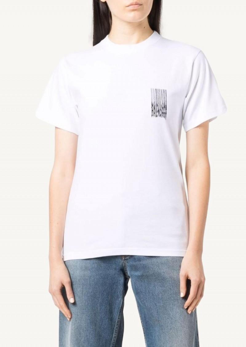 T-shirt Barcode blanc