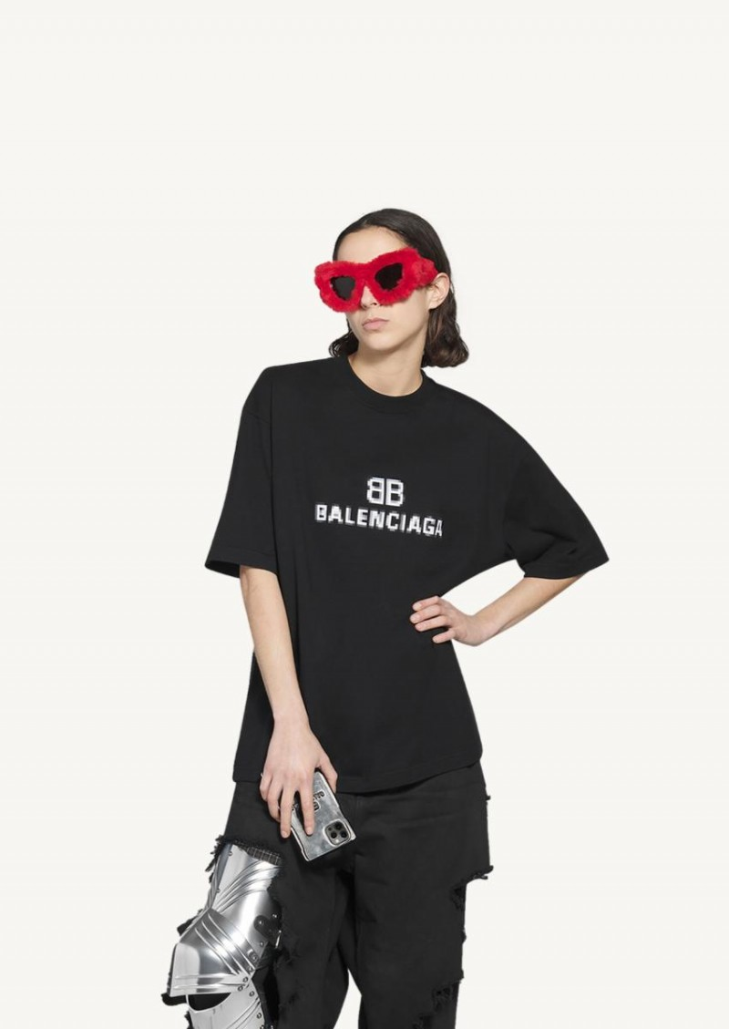 Black BB Pixel medium fit t-shirt