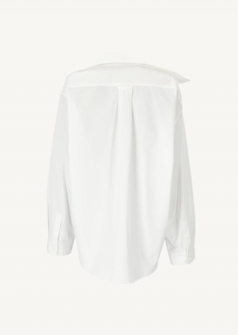 White twisted shirt