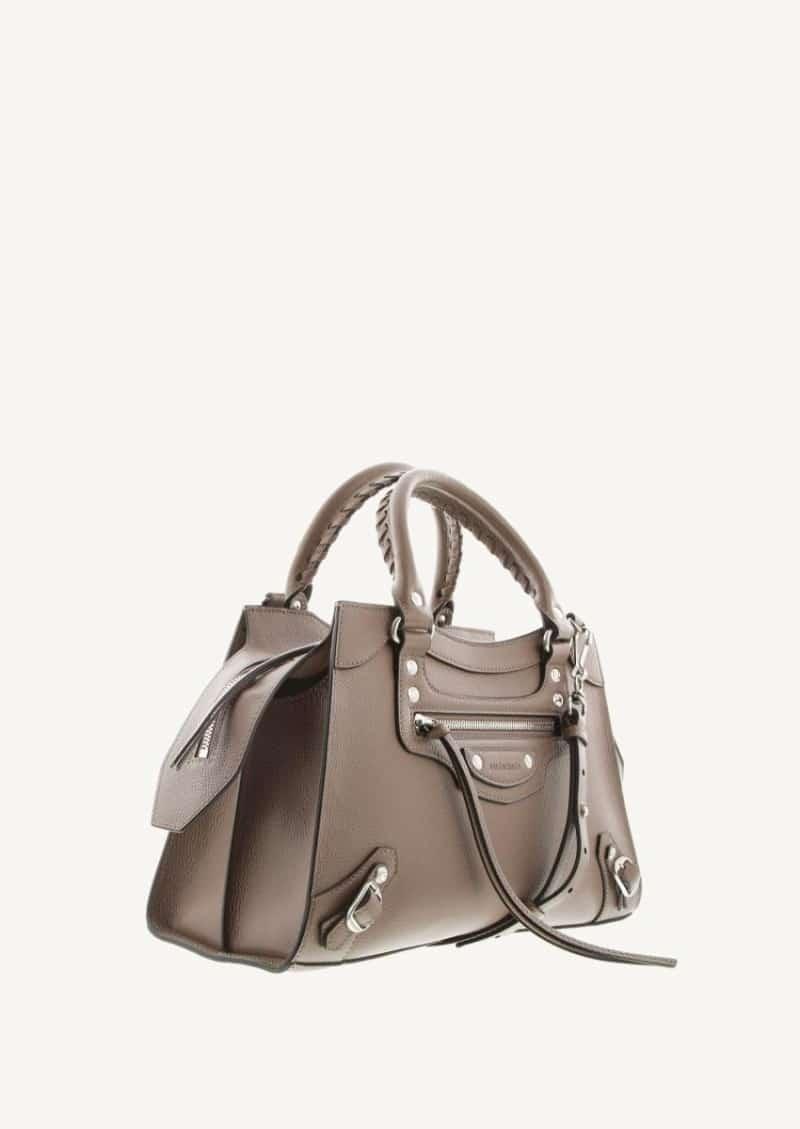 Mink grey Top Handle Neo Classic bag