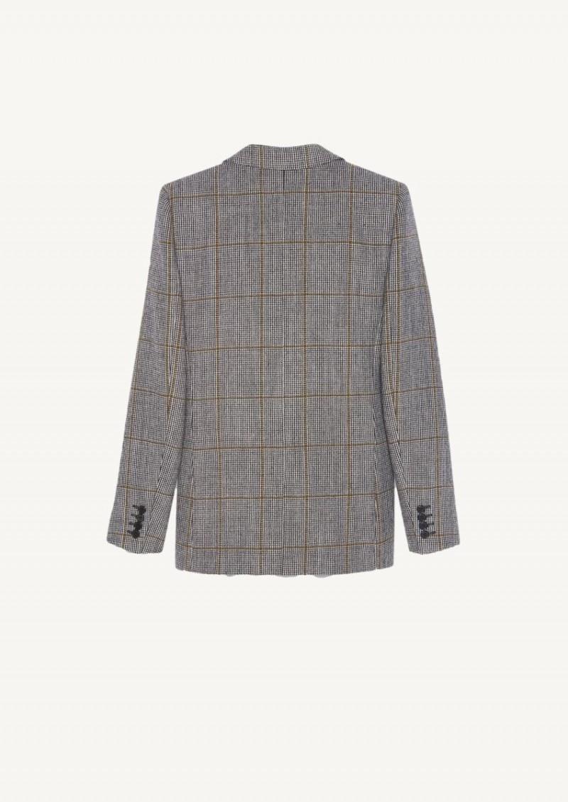 Veste à boutonnage simple en laine craie