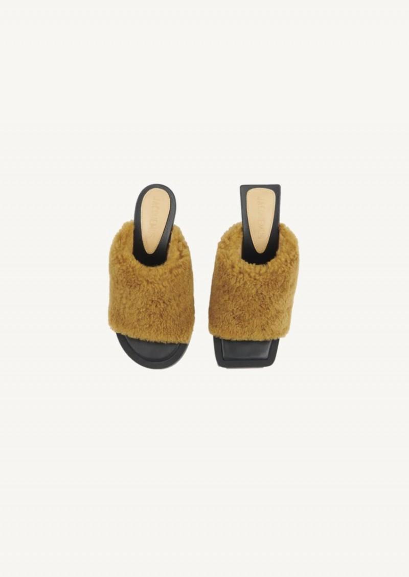 Les mules carrés ronds kaki