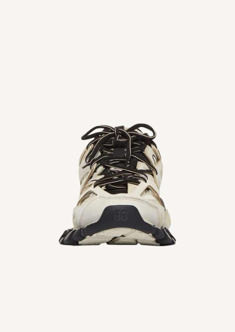 Sneaker Track worn out blanc et noir