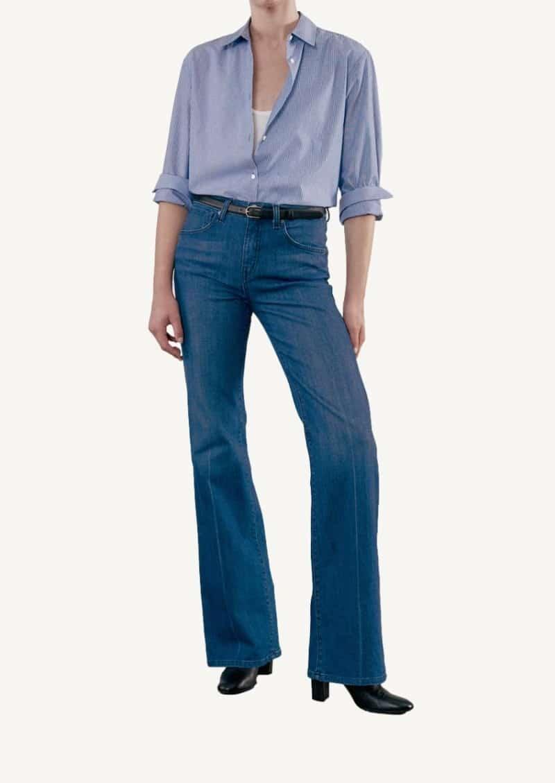 Chemise Casey à rayures bleues