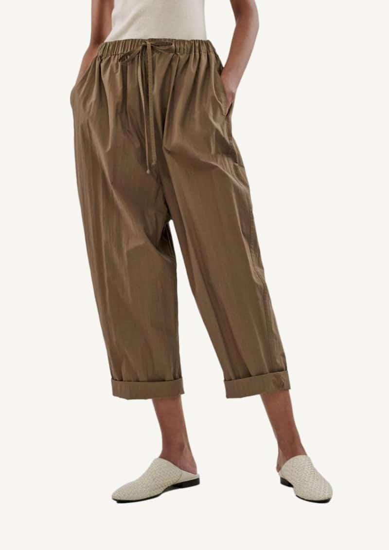 Pantalon à cordon taupe