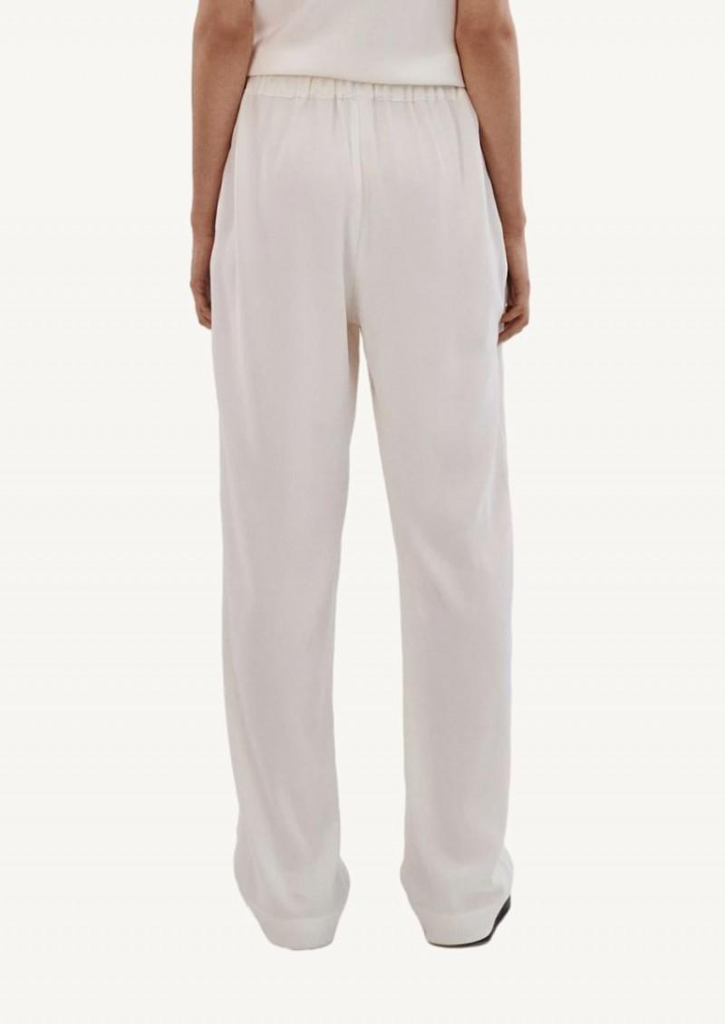 Pantalon à taille élastique ivoire