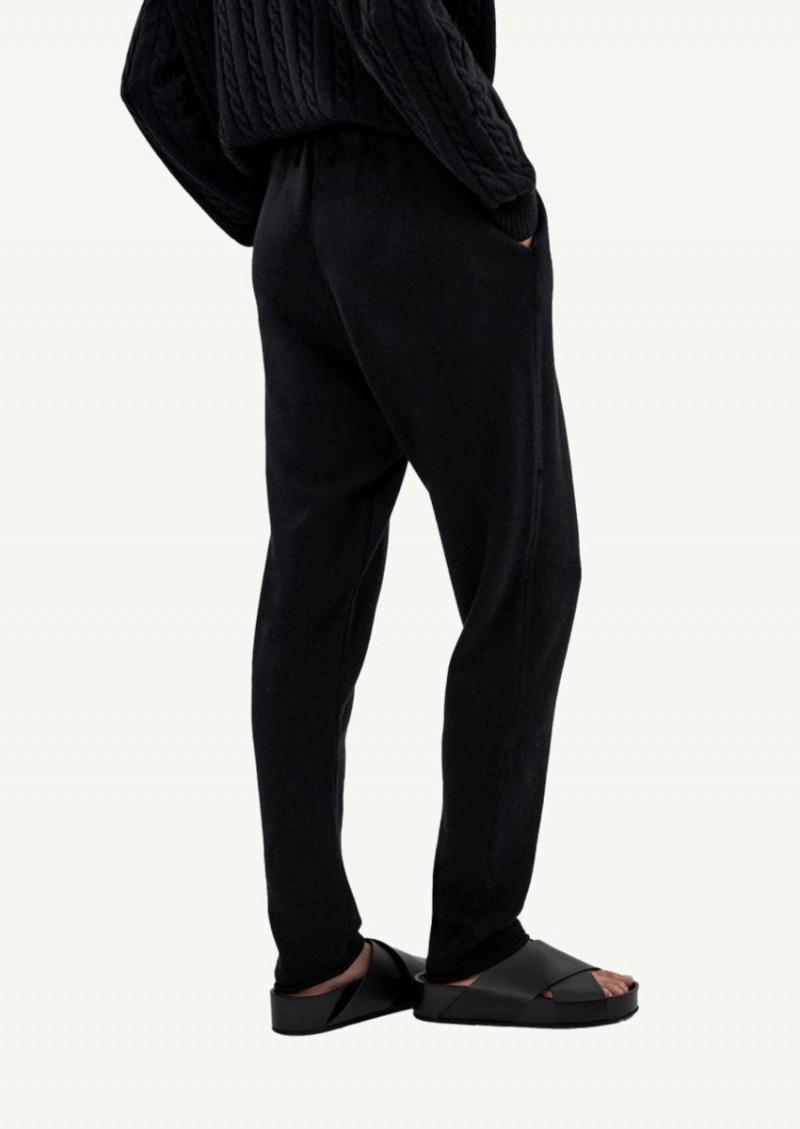 Pantalon de joging à cordon en tricot noir