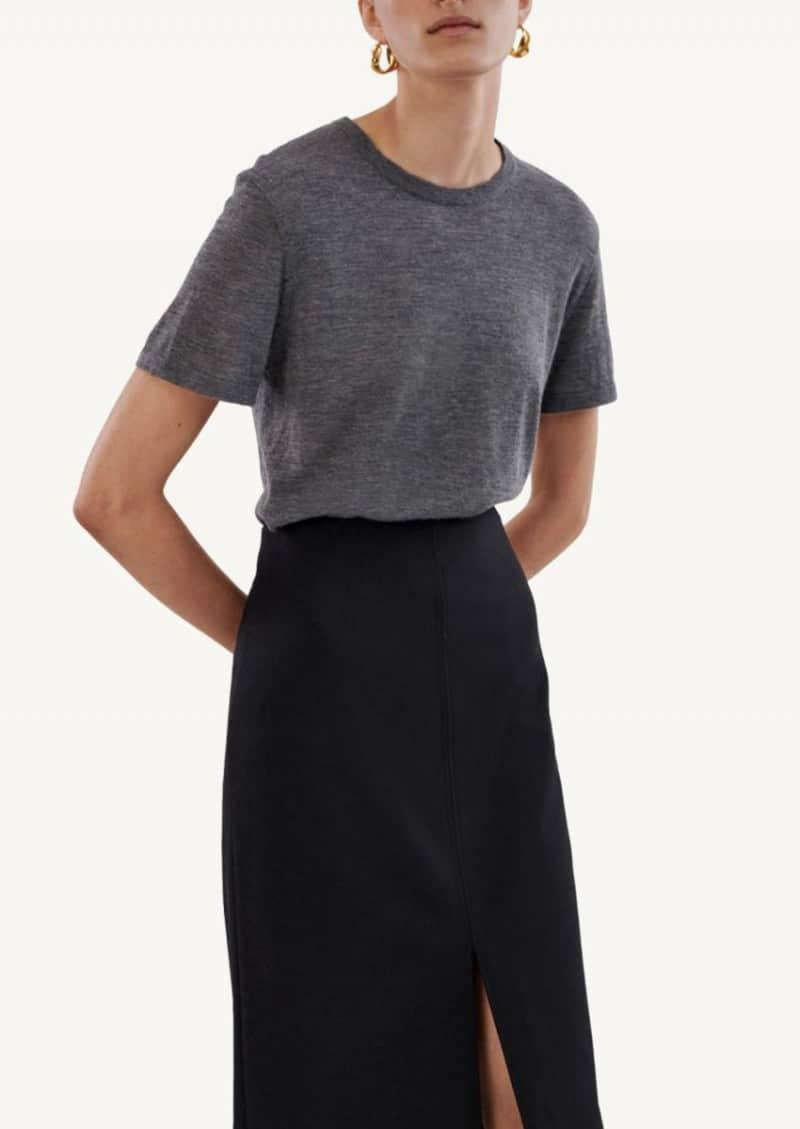Grey Knit T-Shirt