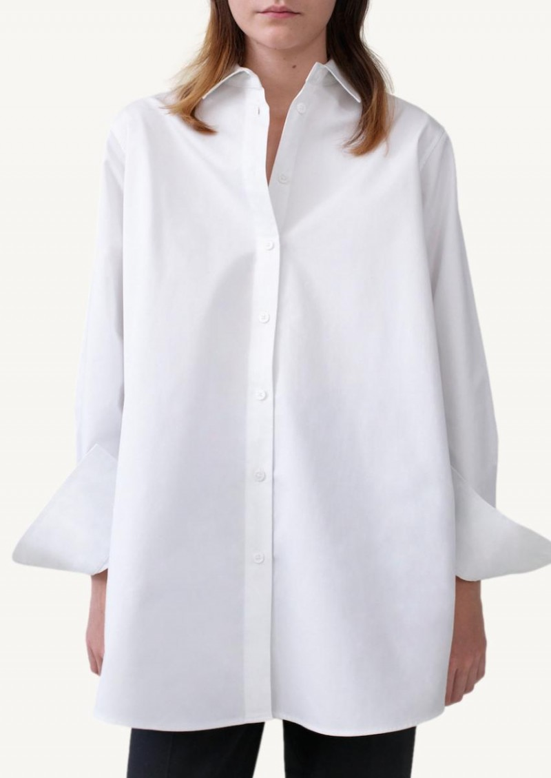 Chemise à boutons blanche