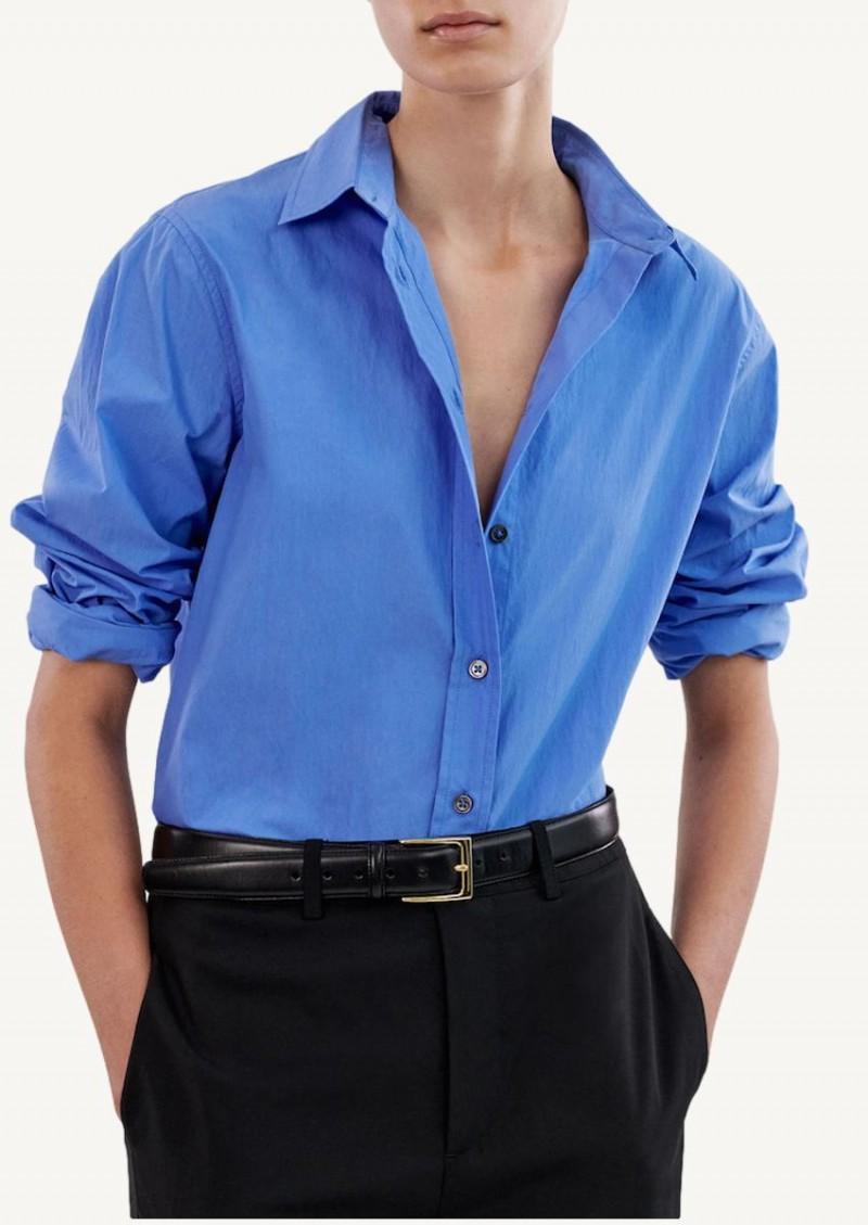 Chemise à boutons bleu