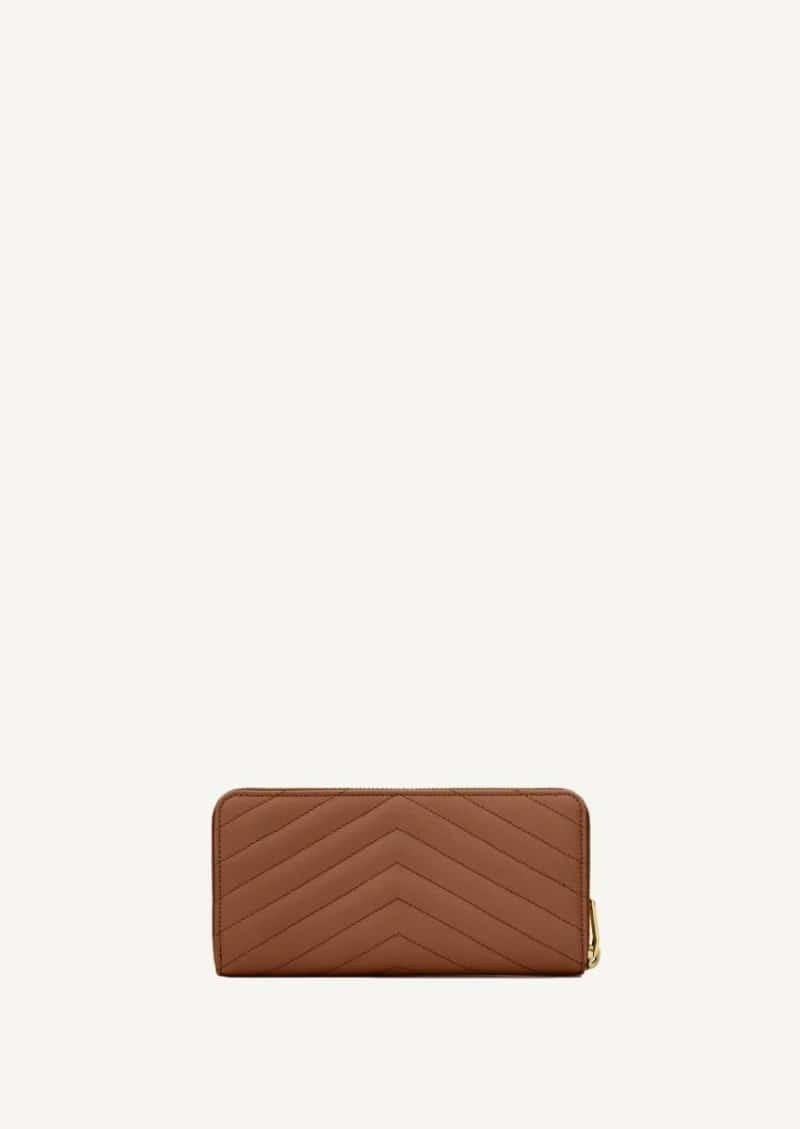 Dark natural classic monogram wallet