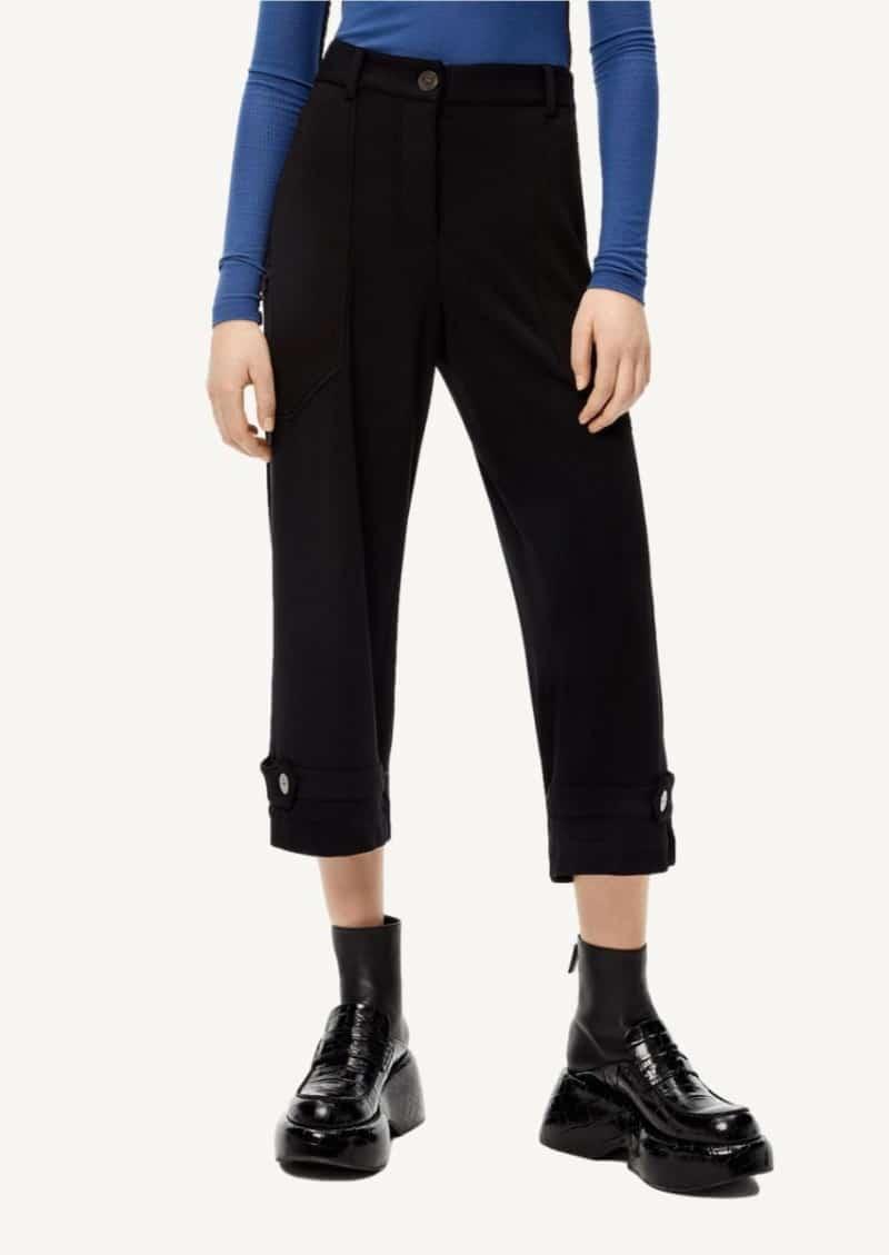 Pantalon court fuselé noir