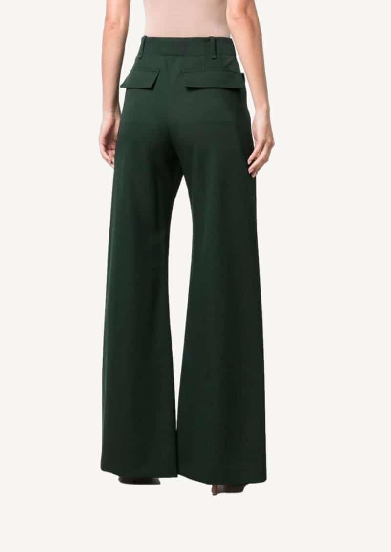Pantalon de tailleur vert foncé