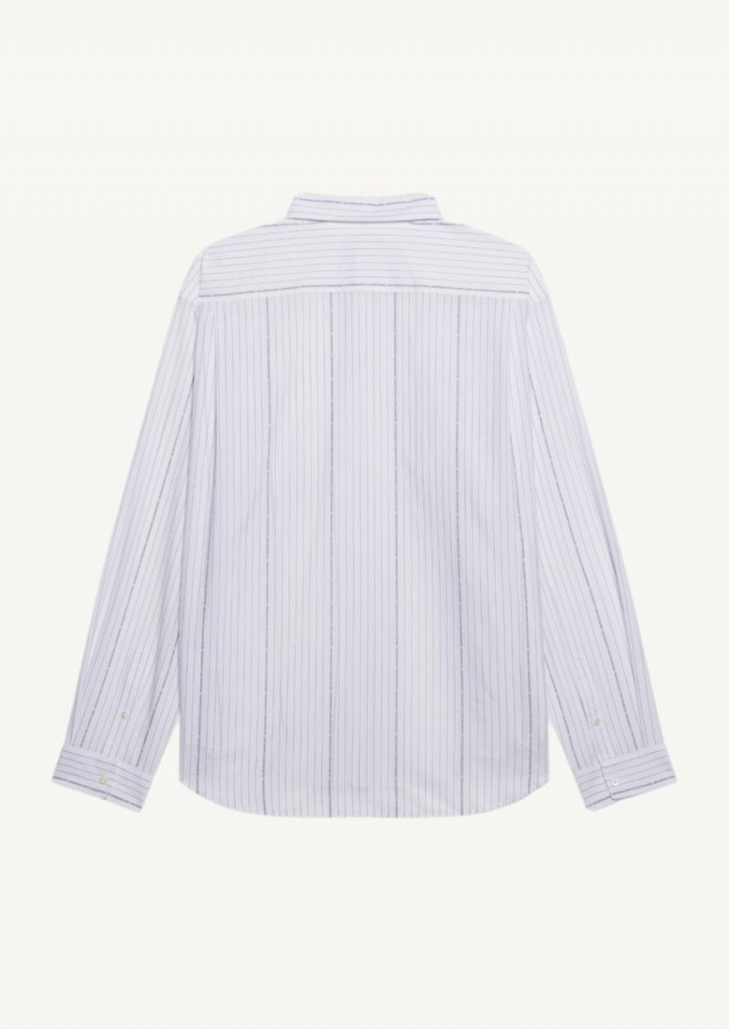 Chemise large fit blanche