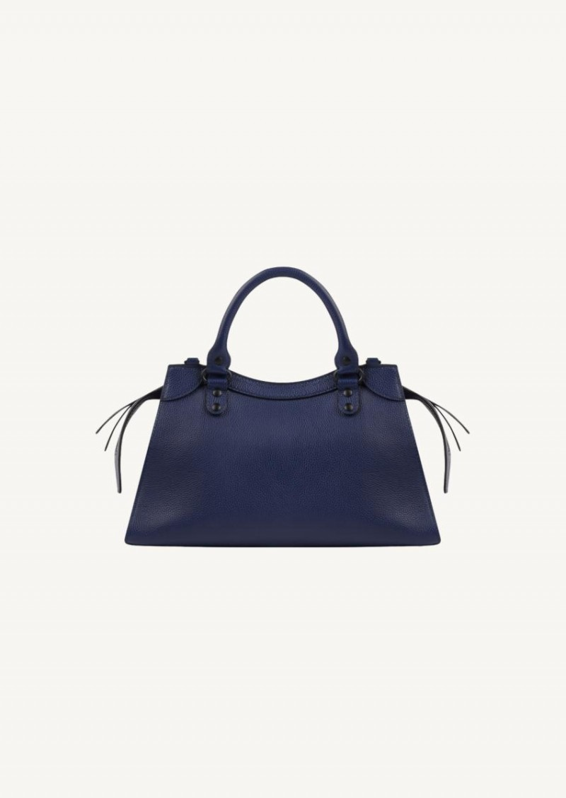 Navy blue Neo classic small in grained leather