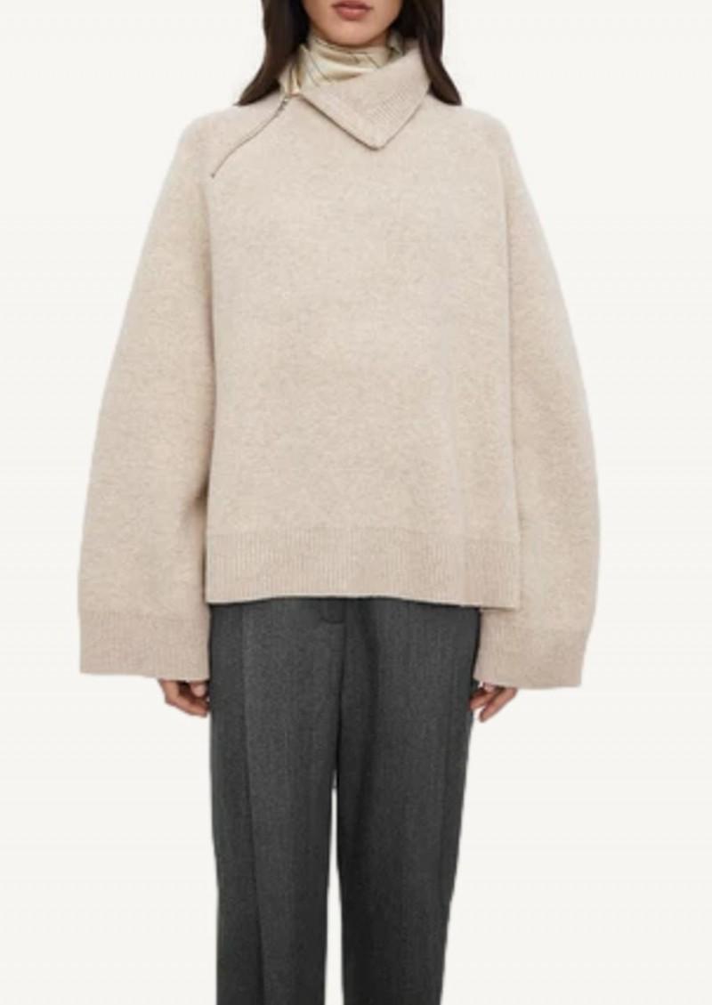 Oat Double-sided yak knit