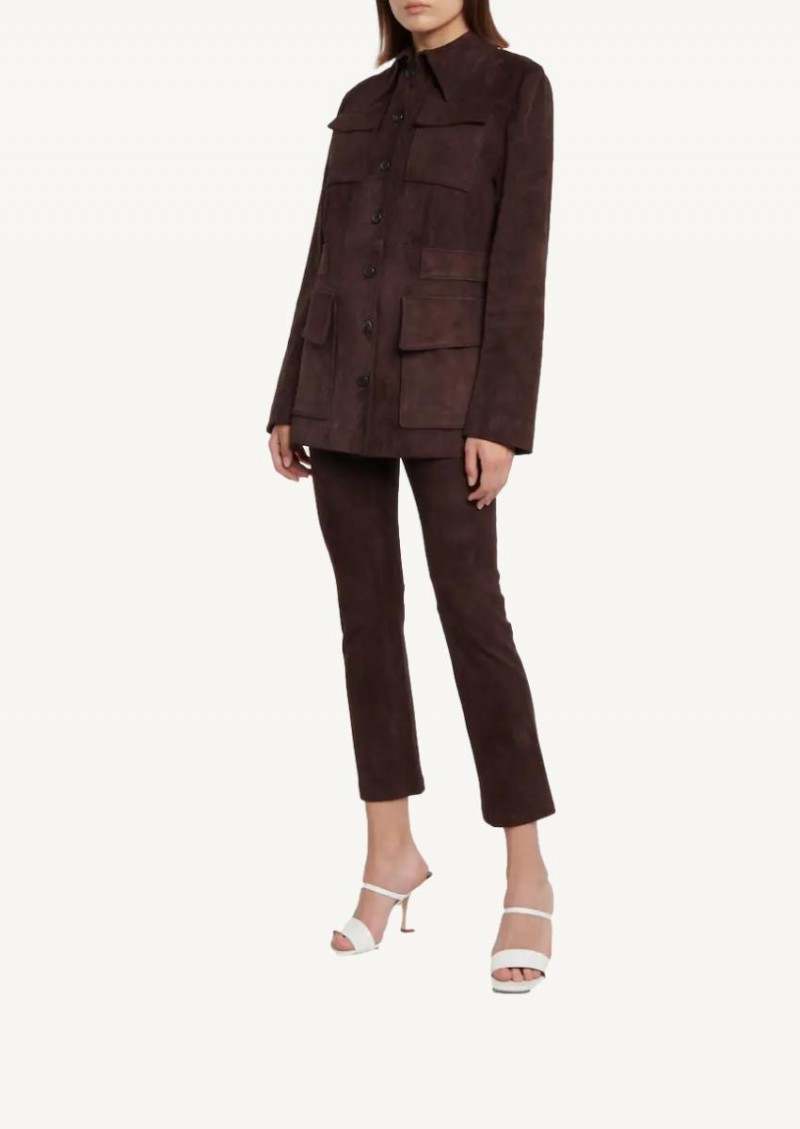 Brown JP Twenty stretch leather pants