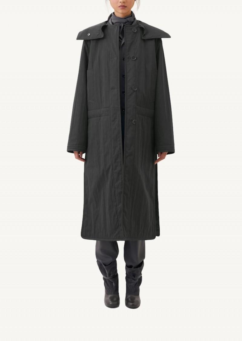 Manteau militaire réversible gris