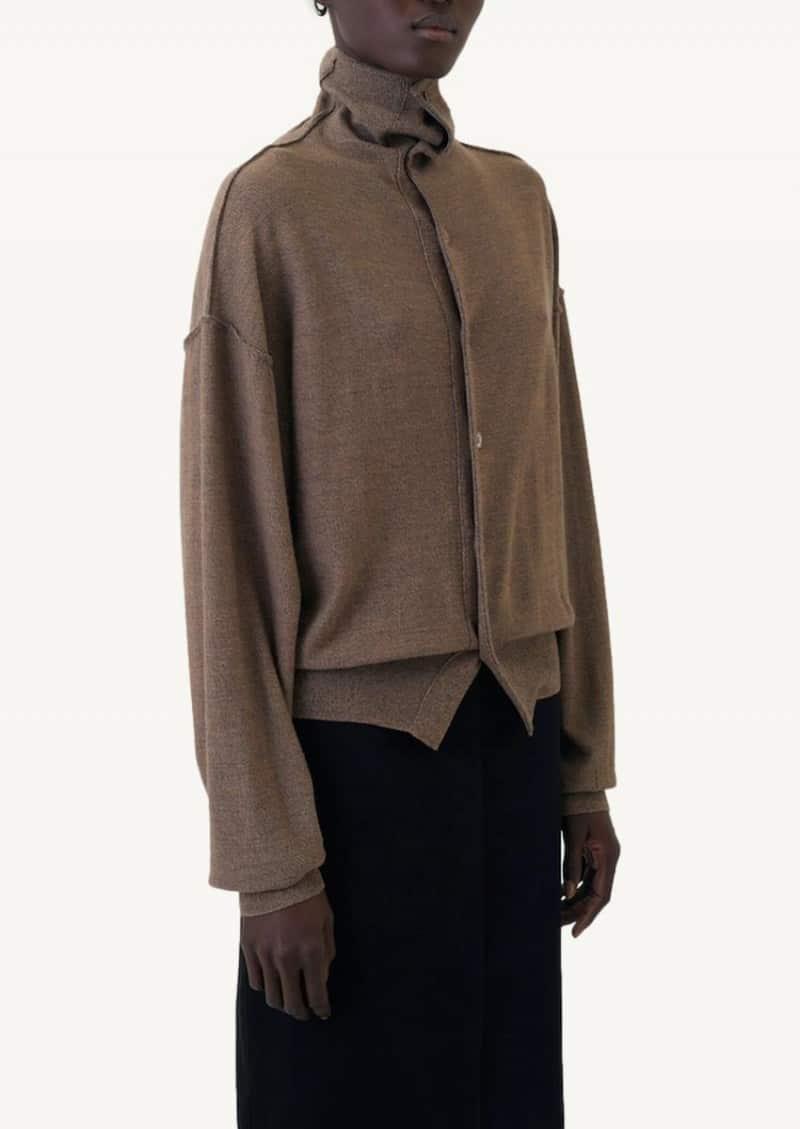 Mustard chine reversible sweater
