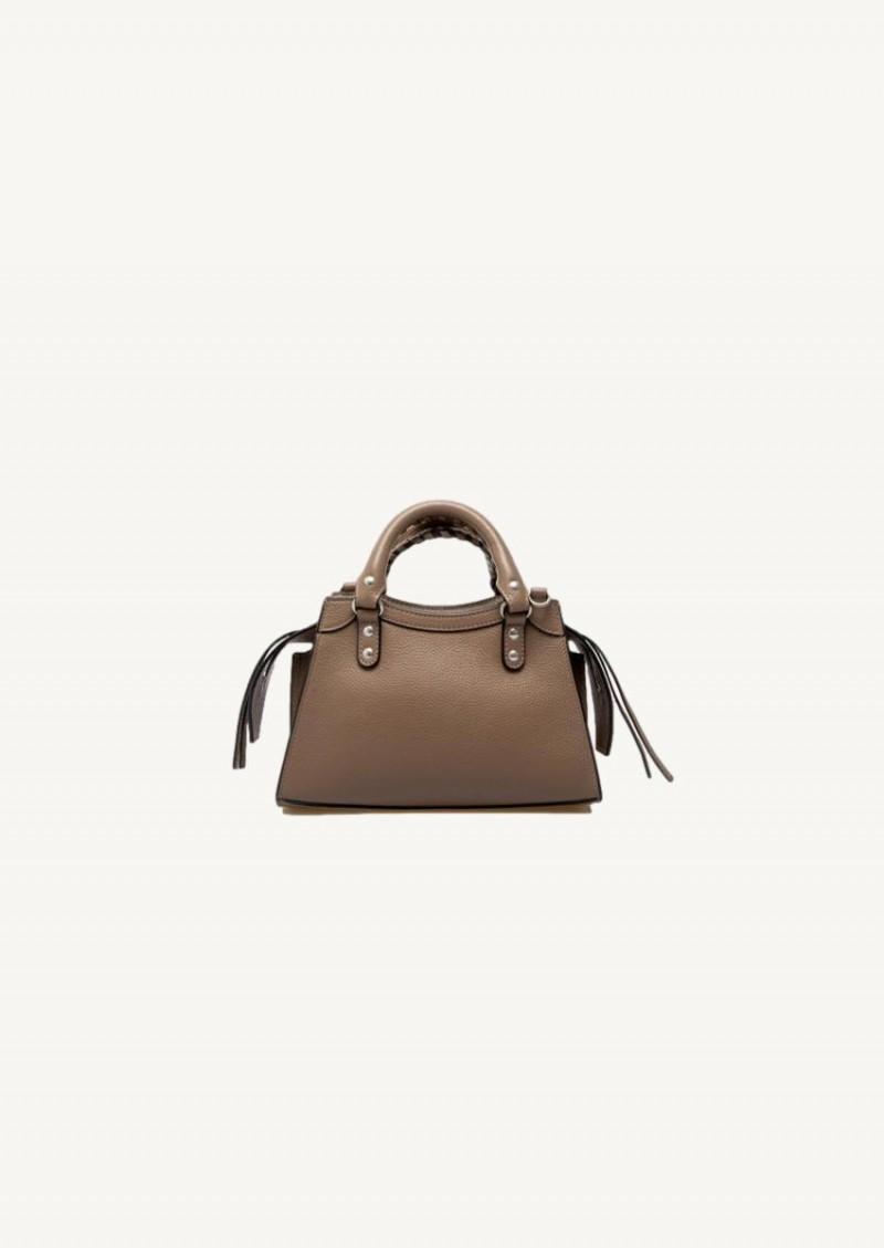 Mink grey Neo Classic Mini Top Handle Bag