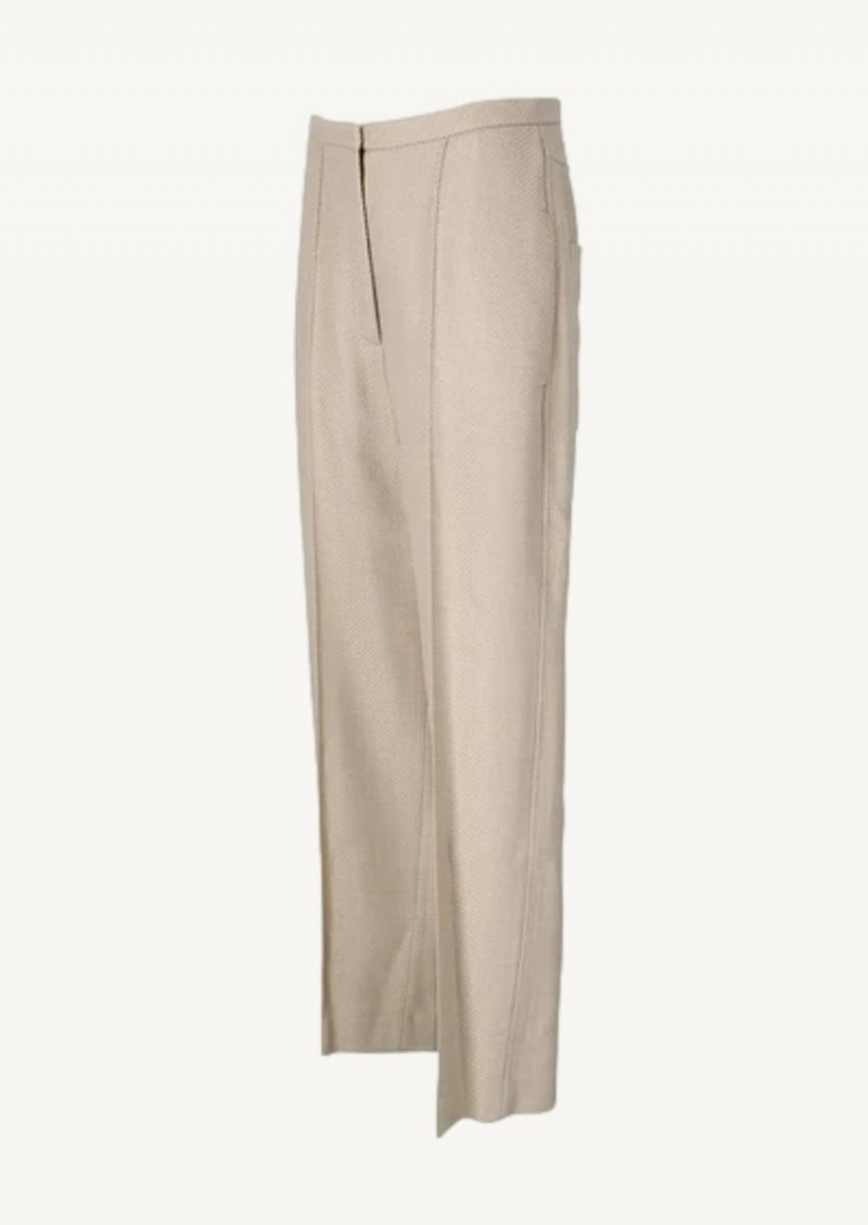 Buttermilk structure Wide business trousers