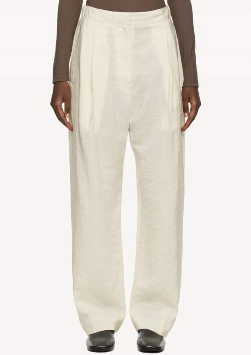 Pantalon élastique blanc