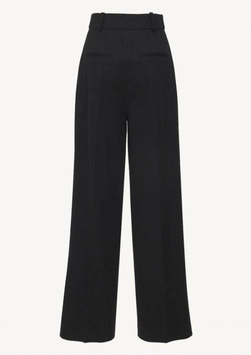 Pantalon à plis sur le devant Restinga noir