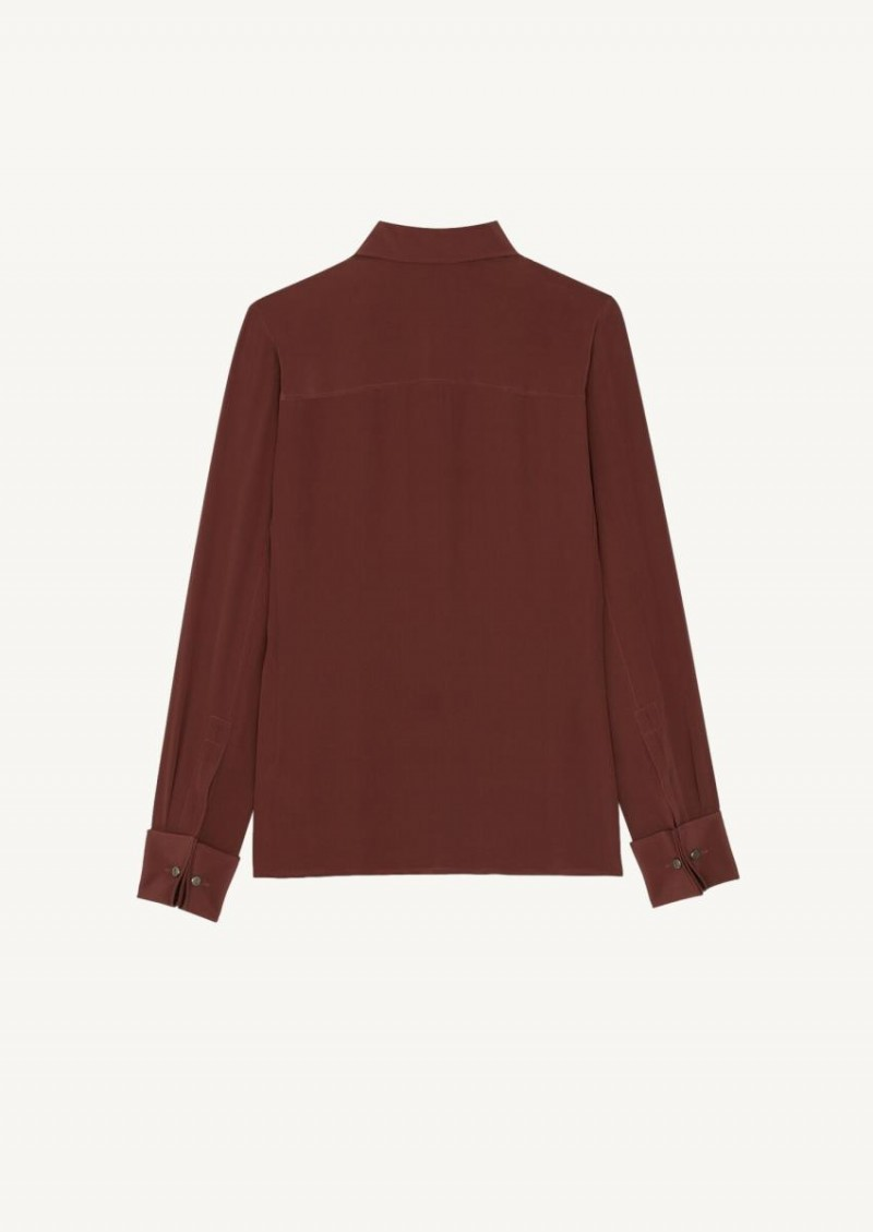 Terracotta fitted shirt