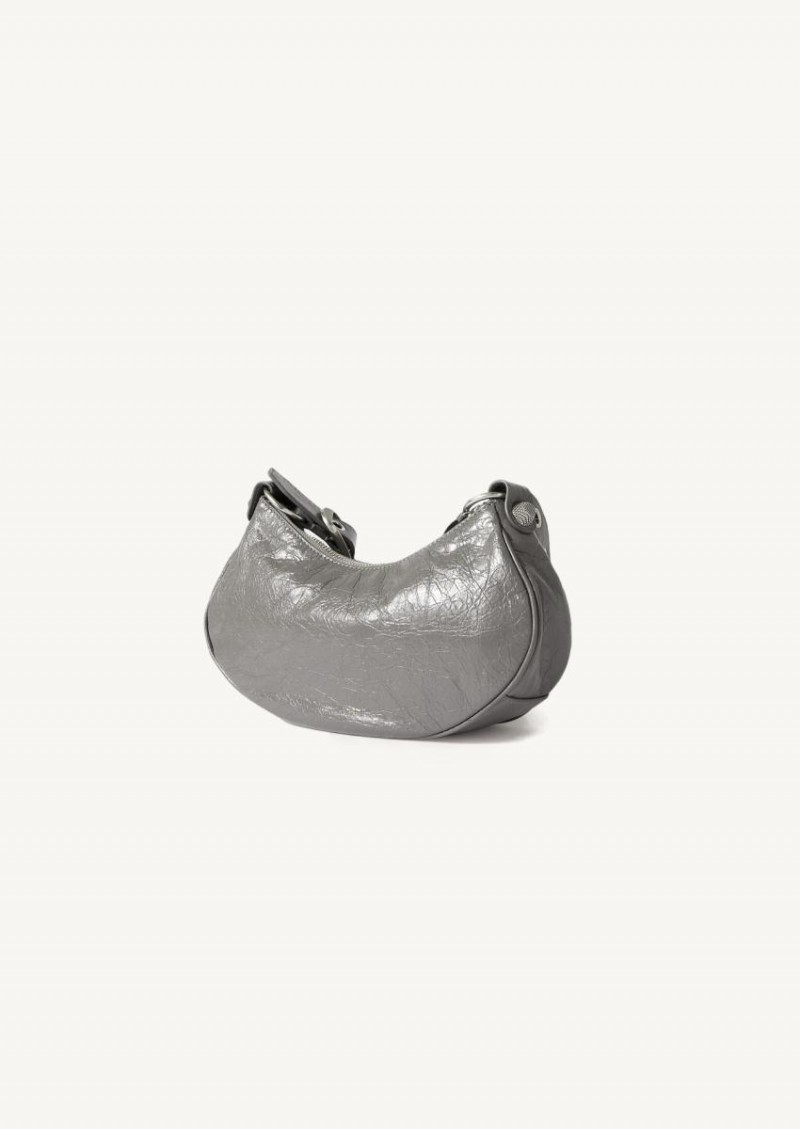 Dark Grey Le Cagole XS shoulder bag