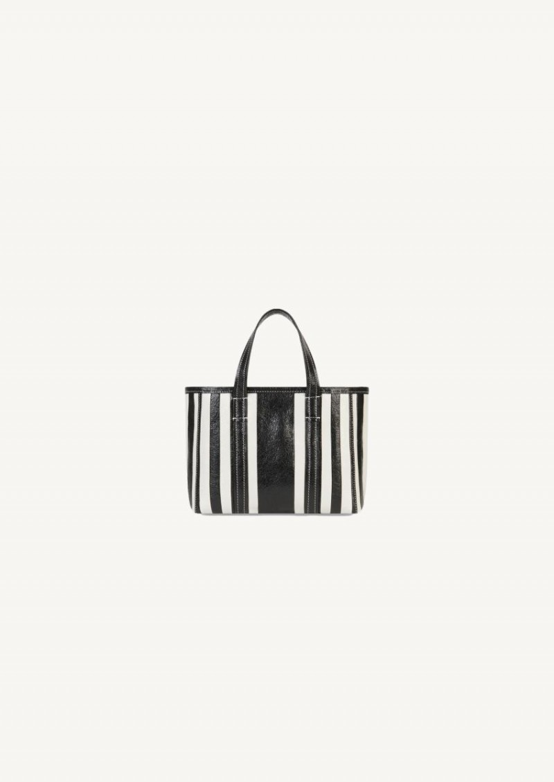 Black and white Barbes small East-West shopper bag