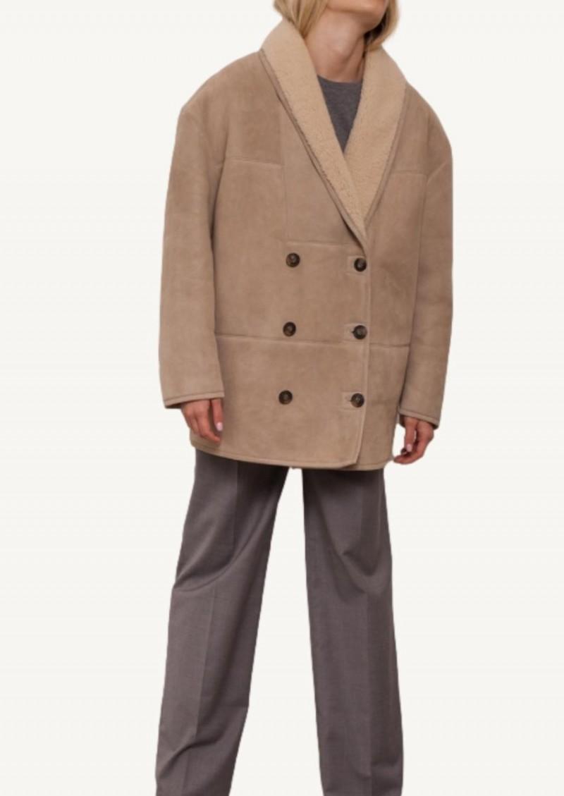 Taupe and ivory Cebu coat