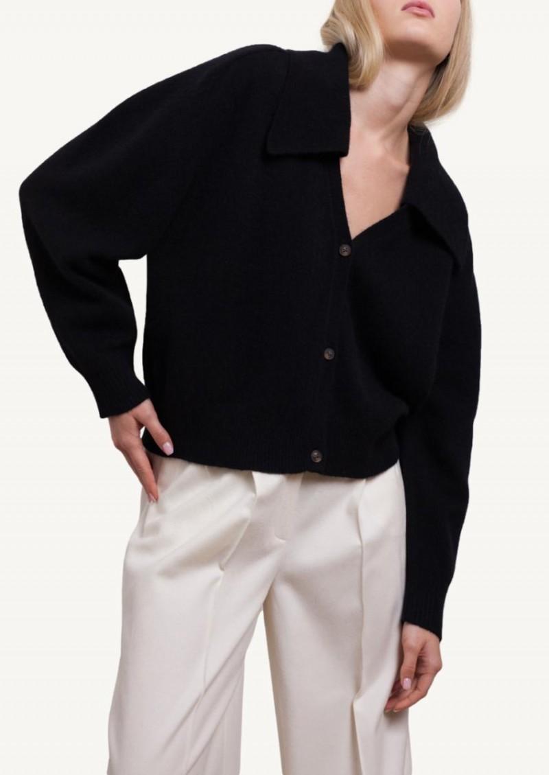 Black Mahe V neck cardigan