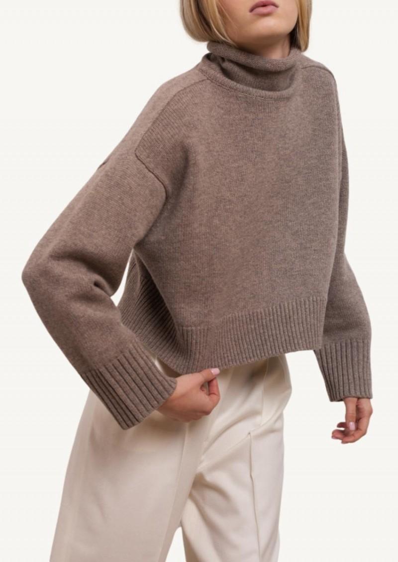 Ashes melange Stintino roll neck sweater