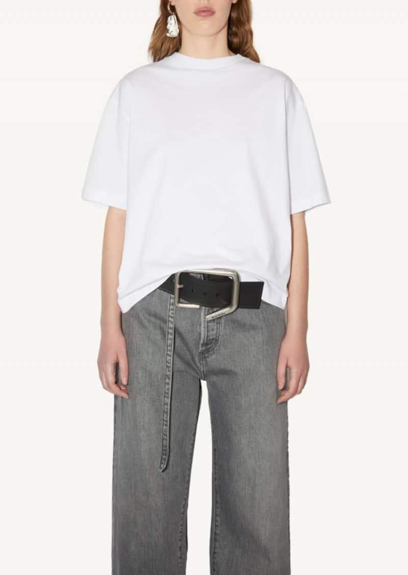 T-shirt à coupe droite blanc
