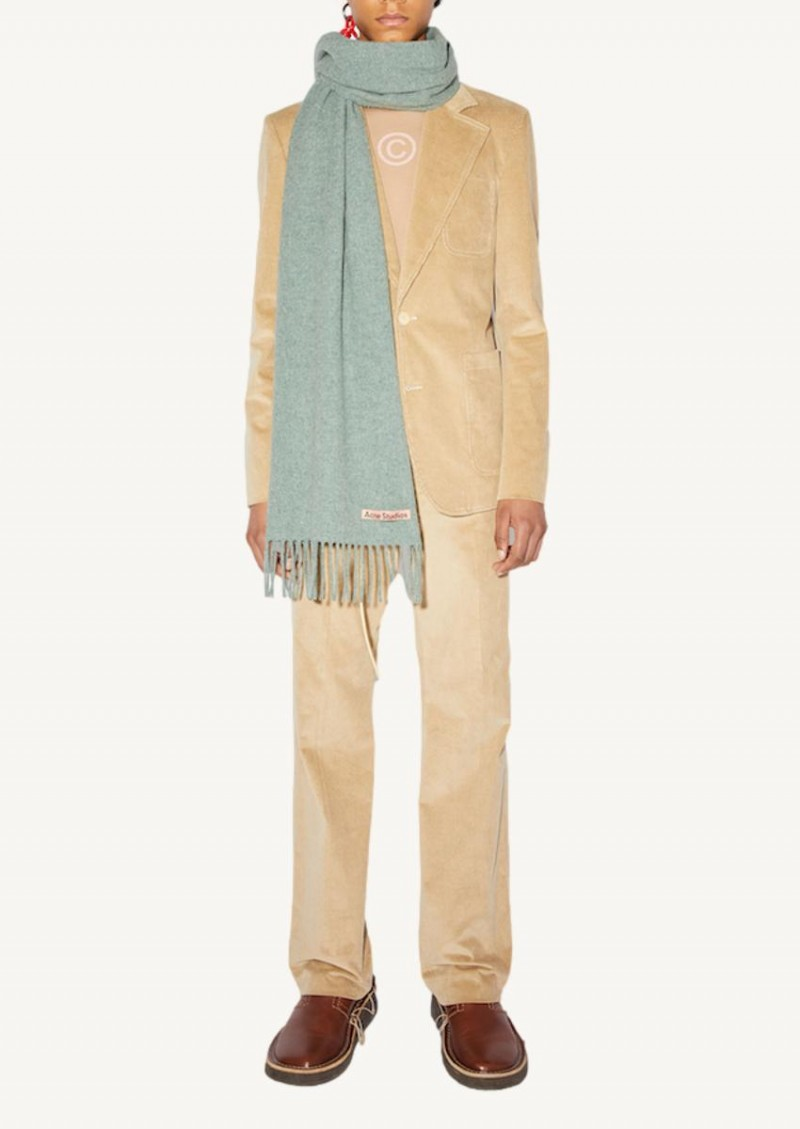 Écharpe en laine verte