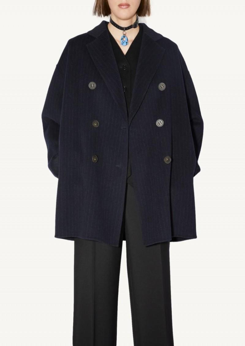 Navy and grey wool jacket