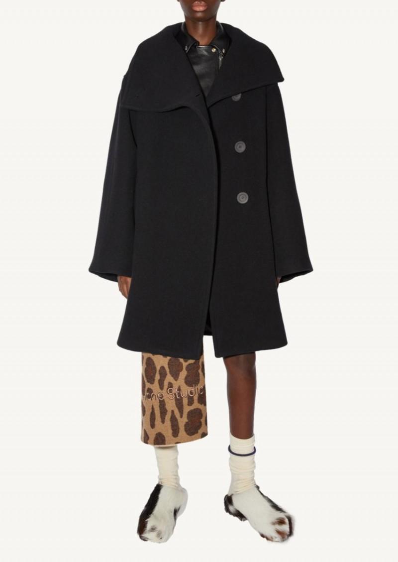 Black Coat with chimney collar