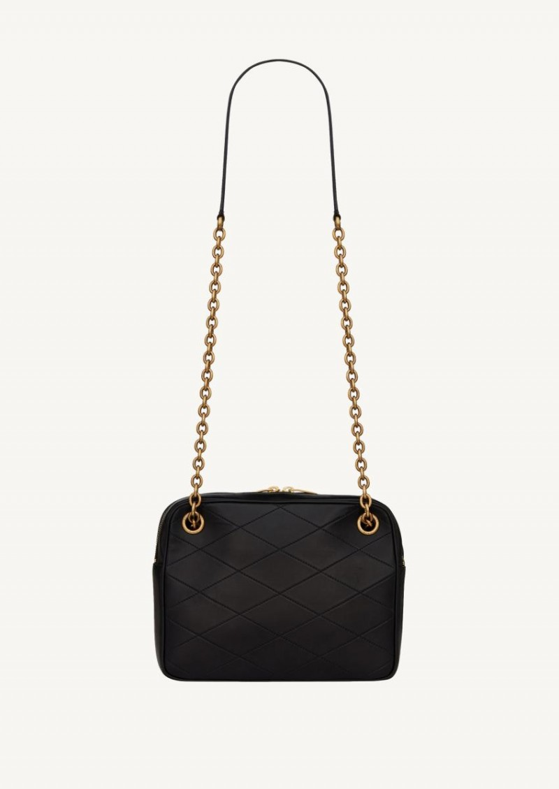 Black Le Maillon small chain bag in quilted leather