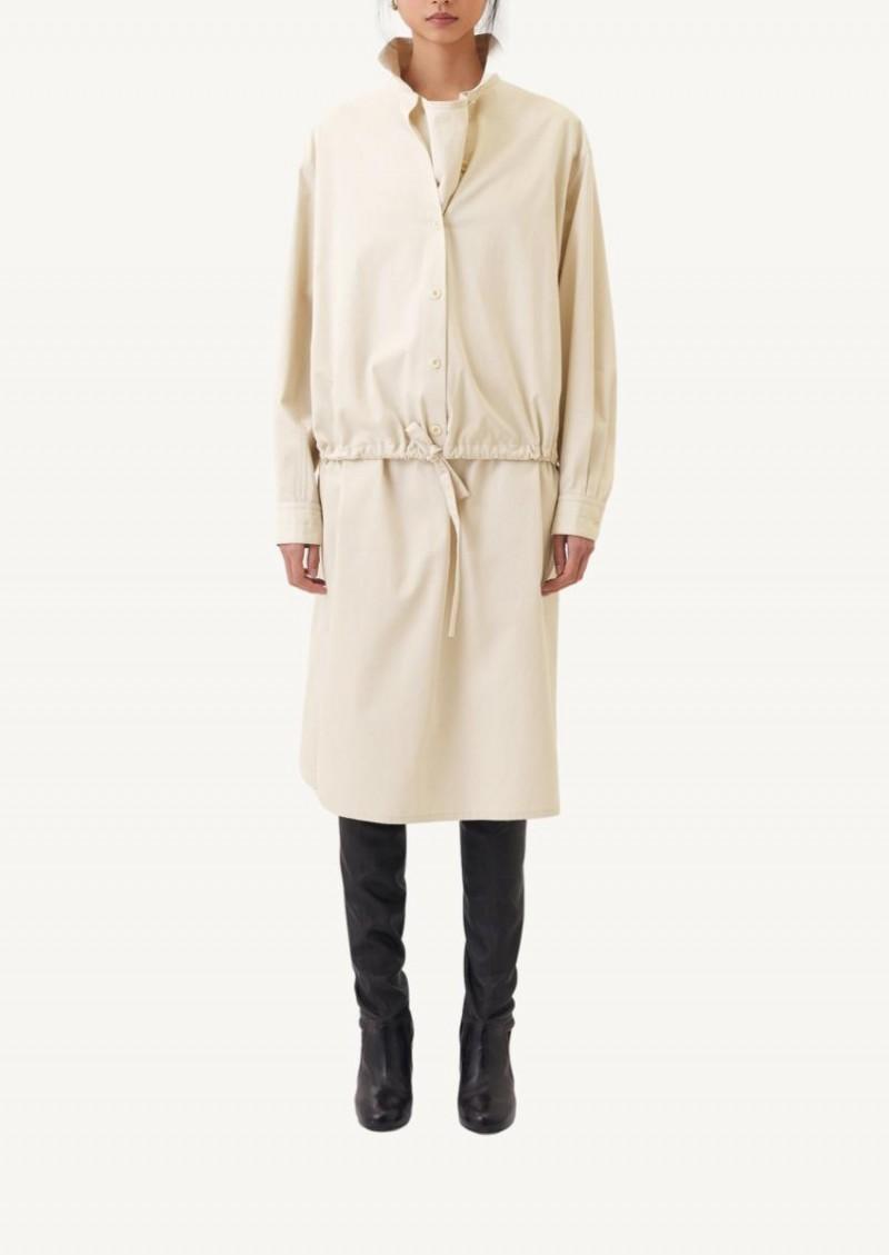 Robe blouse beige