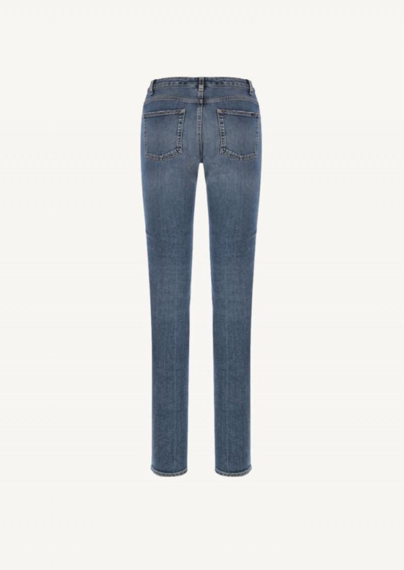 Dark marble blue skinny jean
